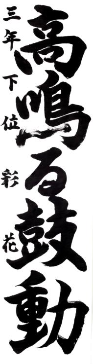 仙台市立第一中学校 3年 下位 彩花